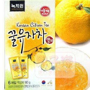 韓國綠茶園 柚子茶 隨身包[KR130]