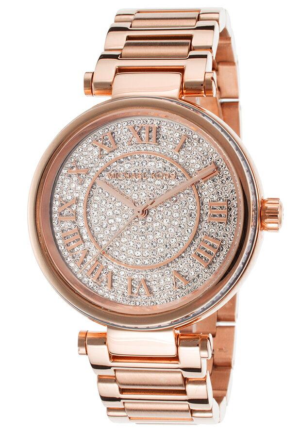 美國Outlet正品代購 MichaelKors MK 復古羅馬數字玫瑰金水鑽  陶瓷  三環 手錶 腕錶 MK5868 3
