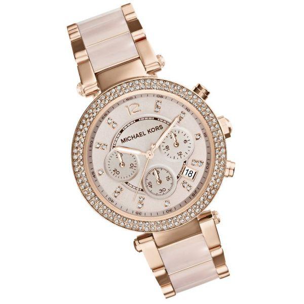【限時8折 全店滿5000再9折】MichaelKors MK 粉玫瑰金 水鑽  陶瓷  三環 手錶 腕錶 MK5896 美國Outlet正品代購 3