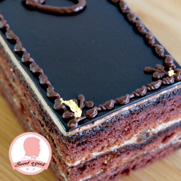 【甜點特務】[ 歐貝拉 ] 巧克力海綿+香濃巧克力酒櫻桃醬+葡萄乾