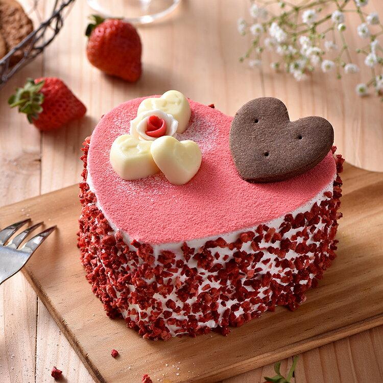 心心相印草莓蛋糕(6吋)★免運★蘋果日報 母親節蛋糕【布里王子】需五天前預訂 0