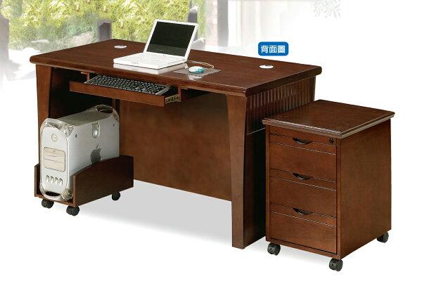 【尚品傢俱】JJ-8701 5.1尺胡桃木實木皮OA主管桌全組