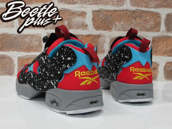 男鞋 BEETLE REEBOK PUMP FURY 潑墨 潑漆 撞色 石頭 巧克力 藍紅 充氣 慢跑鞋 V66114 2