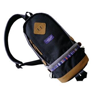 REMATCH - Matchwood Bilayer 民族風單肩後背包 黑色款 斜背包 側背包 隨身包 胸前包 基本防水 / 運動 / 輕便 / 美式休閒 / 單車Fixed gear / Dickies / Porter /  master-piece 可參考