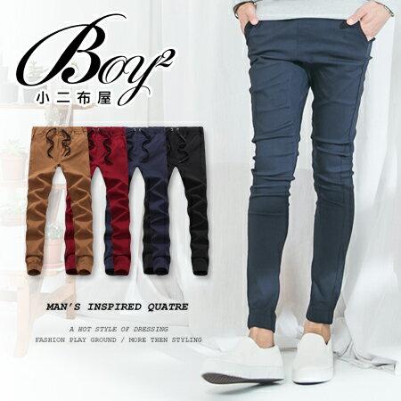 ☆BOY-2☆【NM1529】縮口褲 素面抽繩休閒長褲窄管褲 0