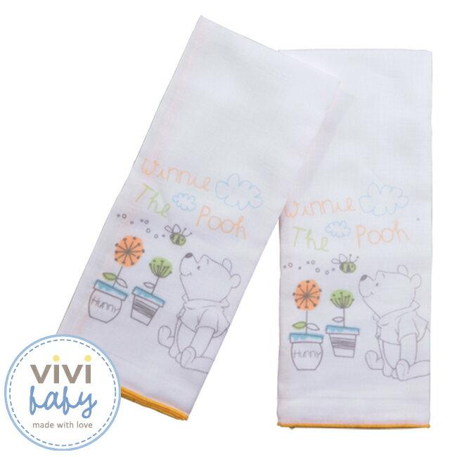 ViViBaby - Disney迪士尼小熊維尼紗布澡巾 1