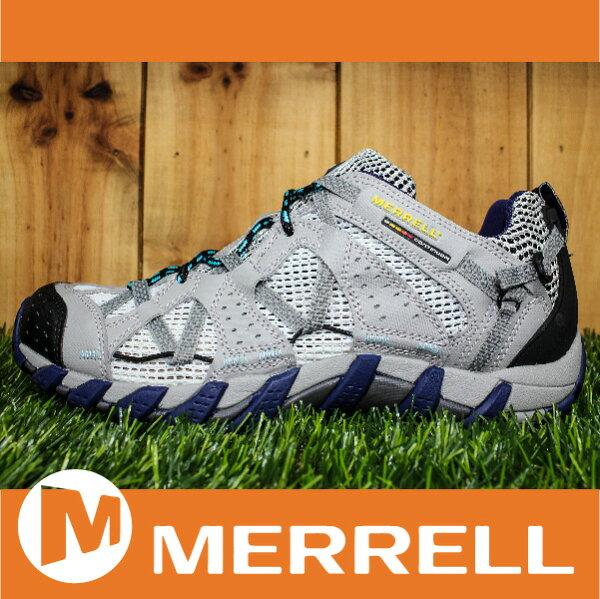 【出清7折!】萬特戶外運動 MERRELL WATERPRO MAIPO 水陸兩用鞋 男款 低筒健行鞋 快乾透氣 淺灰色