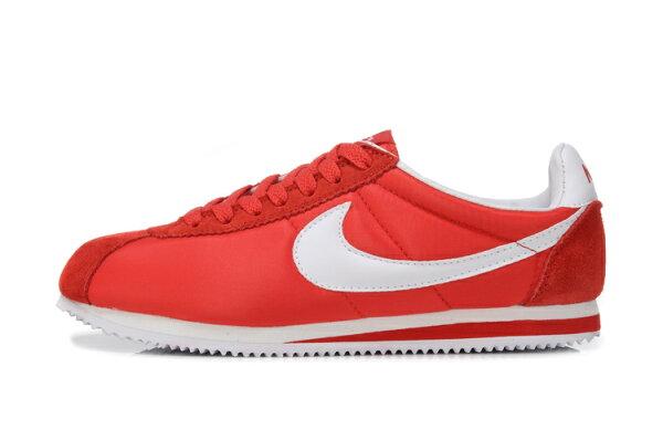 Nike 阿甘跑步鞋 經典款 紅白 男女鞋