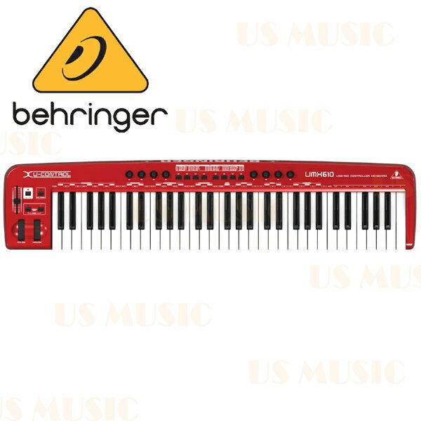 【非凡樂器】『Behringer UMX610 61鍵 USB 主控鍵盤』控制鍵盤 Keyboard Controller/UMX-610