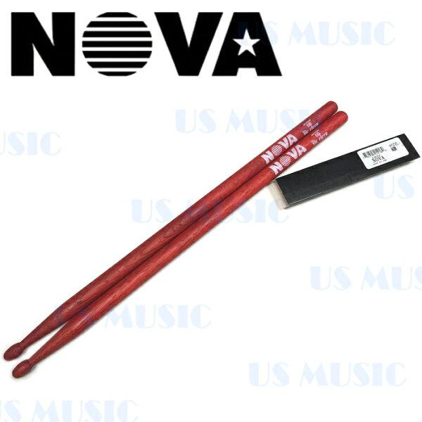 【非凡樂器】『NOVA 5B爵士鼓棒』Vic Firth副廠/紅色鼓棒