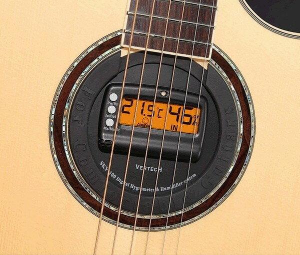 【非凡樂器】韓國Vertech民謠吉他音孔蓋SKY-100溫濕度計乾燥加濕器
