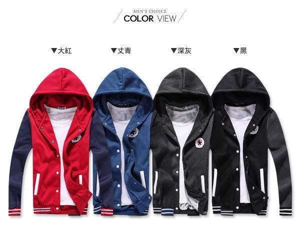 ☆BOY-2☆【OE83185-00】美式星星連帽刷毛棒球外套(2L-4L加大碼區) 2