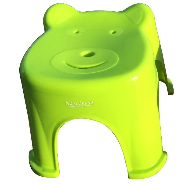 POLYWISE BI-5935 Q熊椅-大 四色(紅藍綠橘)可選/塑膠椅/板凳/椅子/休閒椅