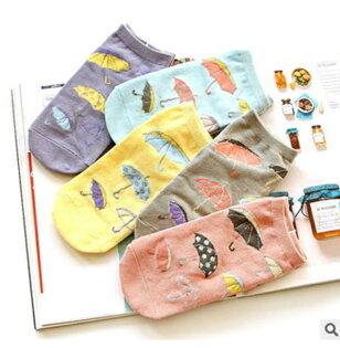 50%OFF【W012431SK】新品MISSZUING韓版小雨傘純棉女襪直板女士船襪諸暨襪子批發