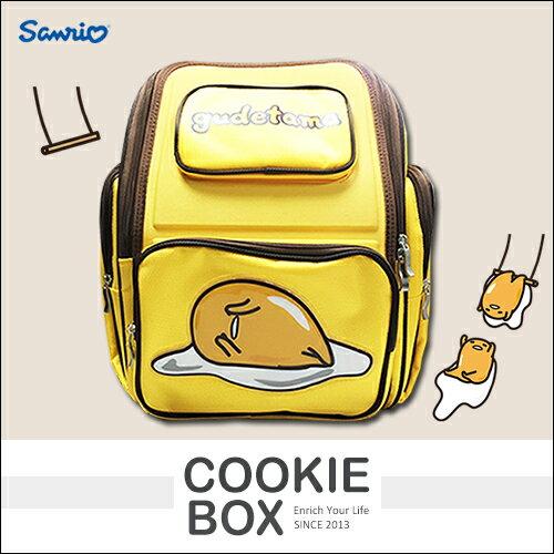 正版 三麗鷗 蛋黃哥 護脊 書包 背包 後背 大容量 舒適 安全 日本 kudetama *餅乾盒子*
