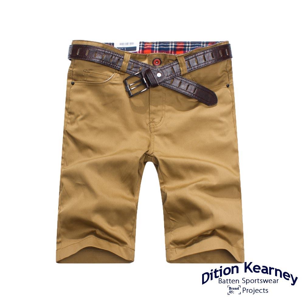 DITION SHOP 黑色卯釘格紋休閒短褲-共六色 有大尺碼 0