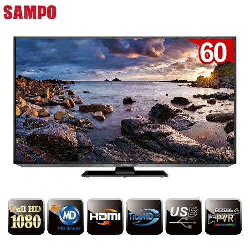 SAMPO聲寶 60吋3D Smart新轟天雷液晶+視訊盒 EM-60WA15D