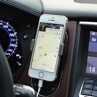汽車空調出風口懶人支架 手機導航 旋轉 冷氣孔 汽車載 車用車架 固定架 iPhone 6 + HTC 三星 SONY【N200485】