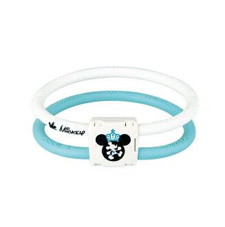 Colantotte直營網路專櫃 ACTIVE WACLE LITE DISNEY COLLECTION 米奇TG稀有金屬手環 / 藍x白