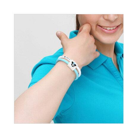 Colantotte直營網路專櫃 ACTIVE WACLE LITE DISNEY COLLECTION 米奇TG稀有金屬手環 / 藍x白 2
