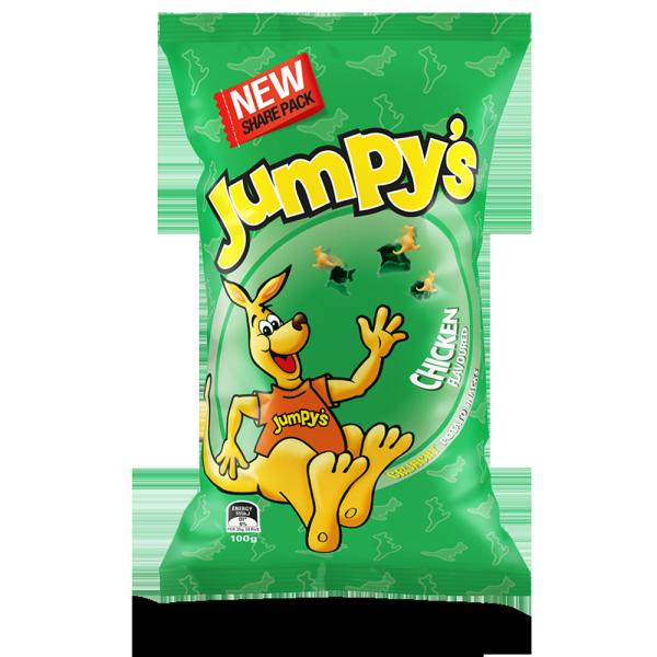 澳洲進口 Jumpy's 3D袋鼠歡樂洋芋片-雞汁100g