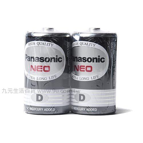 【九元生活百貨】Panasonic國際牌1號環保電池-2入 1號 電池