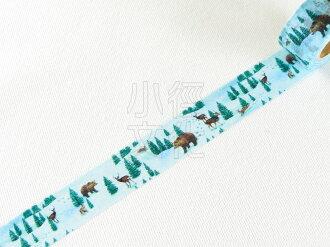 *小徑文化*日本進口 Mark''s 2014 x''mas 和紙膠帶 - 麋鹿森林 ( MST-MKT37-A )