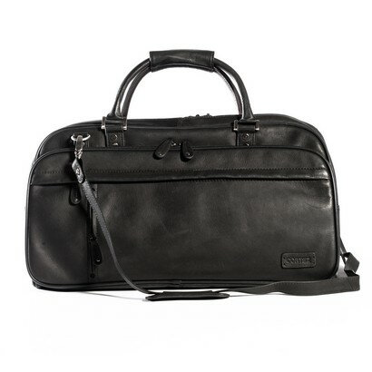 Woodland Leather Explorer Leather Holdall Travel Bag (black) 0