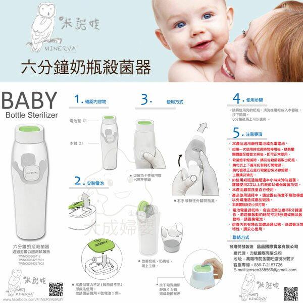【大成婦嬰】MINERVA 米諾娃 六分鐘奶瓶殺菌器 殺菌 清潔 消毒 6分鐘 (原AcoMo) 1