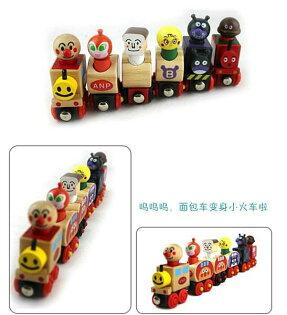=優生活=(平均一隻不到30元)麵包超人火車 磁性木製小火車玩具 相容國際木製標準軌道 兒童玩具