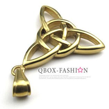 《 QBOX 》FASHION 飾品【 W10022501】 精緻個性金色能量符號鑄造316L鈦鋼墬子項鍊