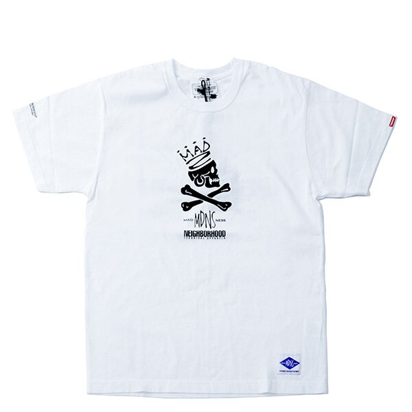 【EST】Madness × Neighborhood 兩週年 聯名 骷髏 短tee 白 [MD-0002-001] G0728 0