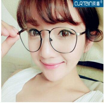50%OFF【J007942Gls】復古韓版文藝範眼鏡框百搭金屬圓框潮眼鏡架抗疲勞uv400 附眼鏡盒