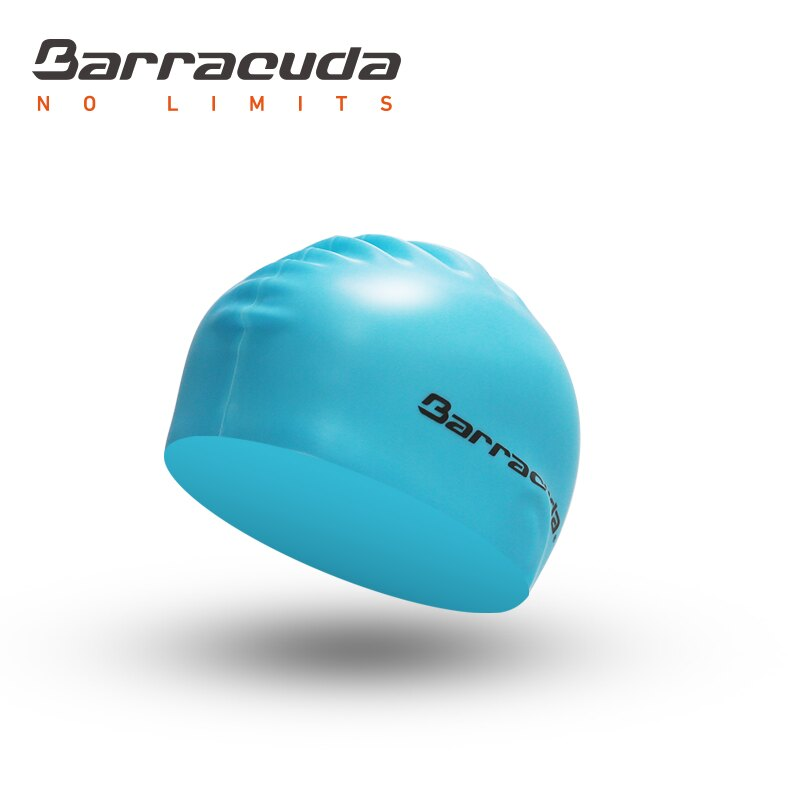 美國巴洛酷達Barracuda成人矽膠泳帽-淺藍 - 限時優惠好康折扣