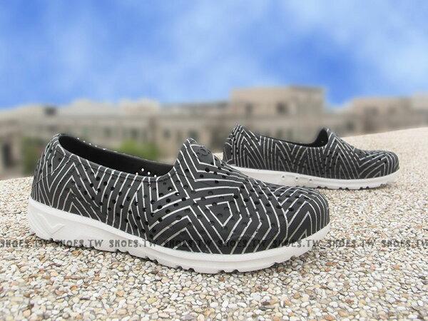 《限時特價79折》Shoestw【62K1SA61BK】PONY TROPIC 水鞋 童鞋 軟Q 防水 洞洞鞋 黑銀線 中童鞋