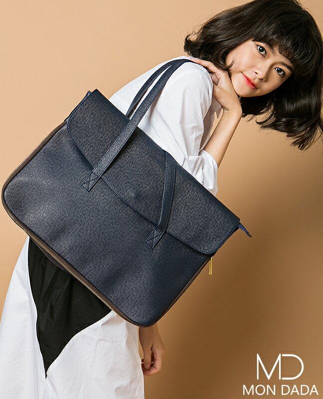 ~Mondada~82802.極簡皮革手提方包.~韓系~~上班族~~手提包~