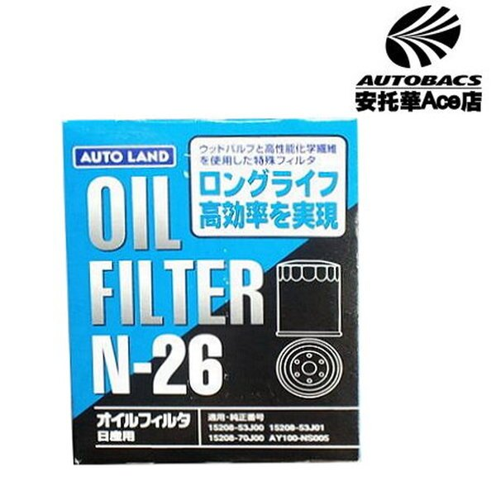 【日本獨家限量款】AUTO LAND機油芯PRIMERA N-26 (251320)