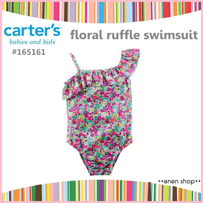enen shop  Carter  ^#27 s 亮色小碎花款斜肩連身式泳裝 泳衣 ^#
