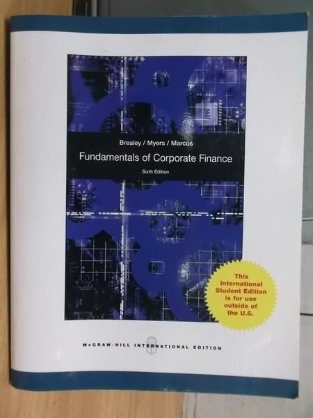 ~書寶 書T9/大學商學_YFO~Fundamentals of Corporate Fi