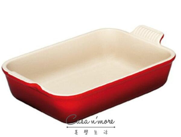 Le Creuset 長方形焗烤盤紅色,19 x13.5 cm