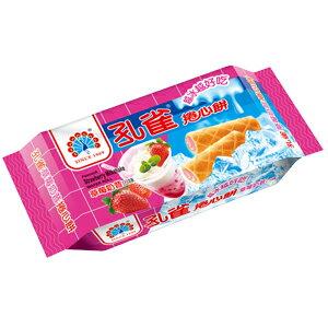 ●孔雀捲心餅63g-草莓奶昔口味-單包【合迷雅好物超級商城】