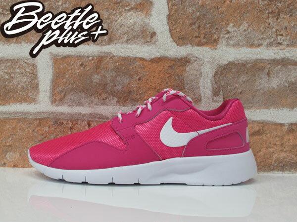 女生 BEETLE NIKE KAISHI RUN 粉紅 網布 透氣 輕量 粉底 白勾 慢跑鞋 705492-600 0