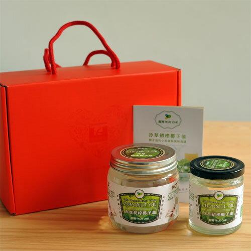 【椰子油禮盒】鮮粹 冷萃初榨椰子油500ml+250ml禮盒組 0