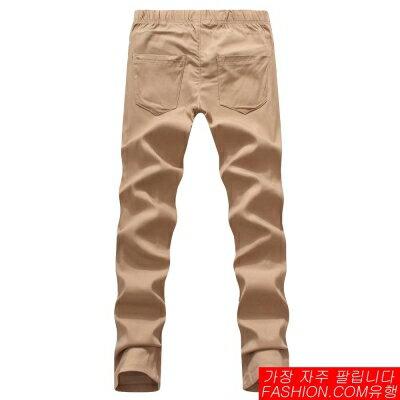 DITION  彈性螺紋保暖厚棉素色長褲 休閒運動 0