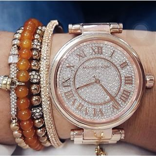 美國Outlet正品代購 MichaelKors MK 復古羅馬數字玫瑰金水鑽  陶瓷  三環 手錶 腕錶 MK5868 7