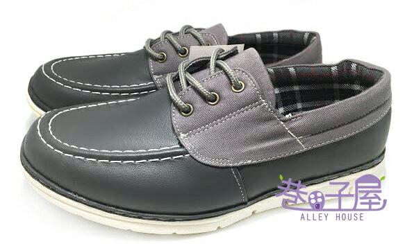 【巷子屋】JIMMY POLO 男款拼接格紋運動休閒鞋 [12021] 灰 MIT台灣製造 超值價$298