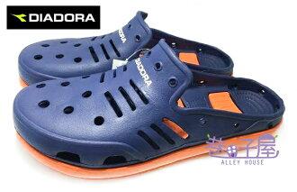 【巷子屋】義大利國寶鞋-DIADORA迪亞多納 男款空氣河馬拖鞋 懶人鞋 洞洞鞋 [2026] 深藍 超值價$198