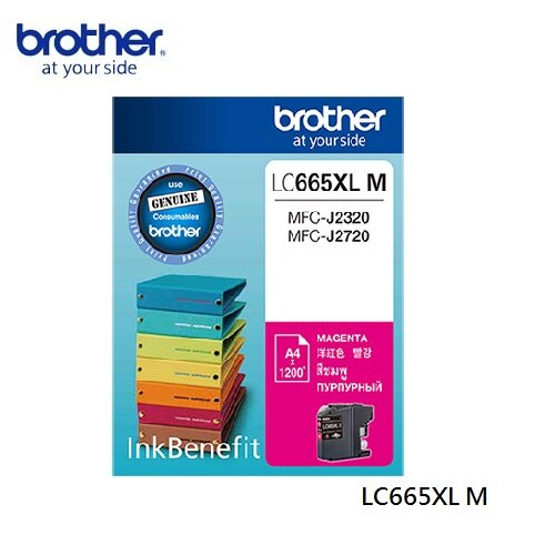 brother LC665XL-M 原廠高容量紅色墨水匣