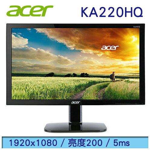 【宏碁Acer】22型 FullHD 不閃屏濾藍光LED液晶螢幕顯示器 KA220HQ