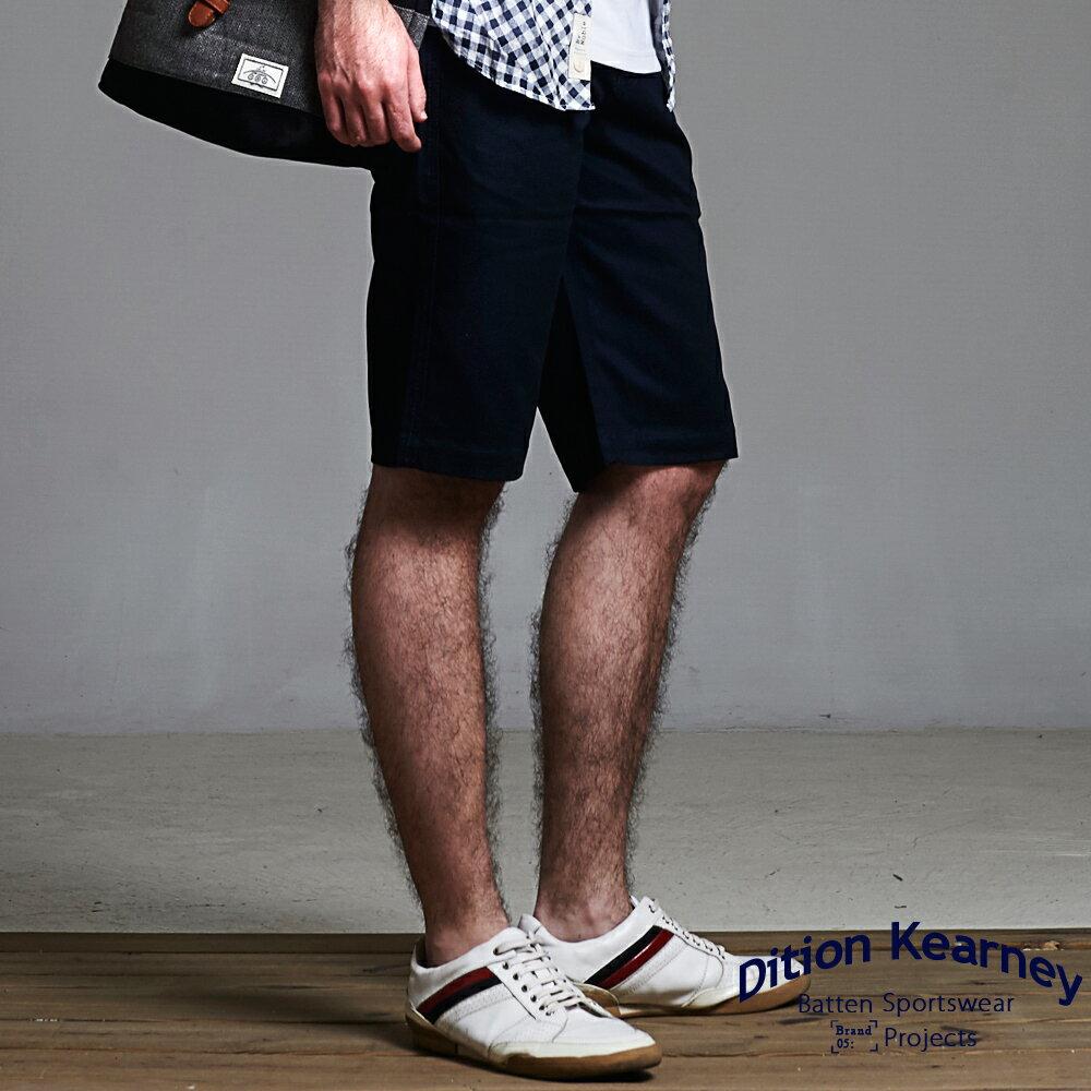 DITION SHOP 美式休閒釘釦素色工作短褲 水洗 經典款有大尺碼 1